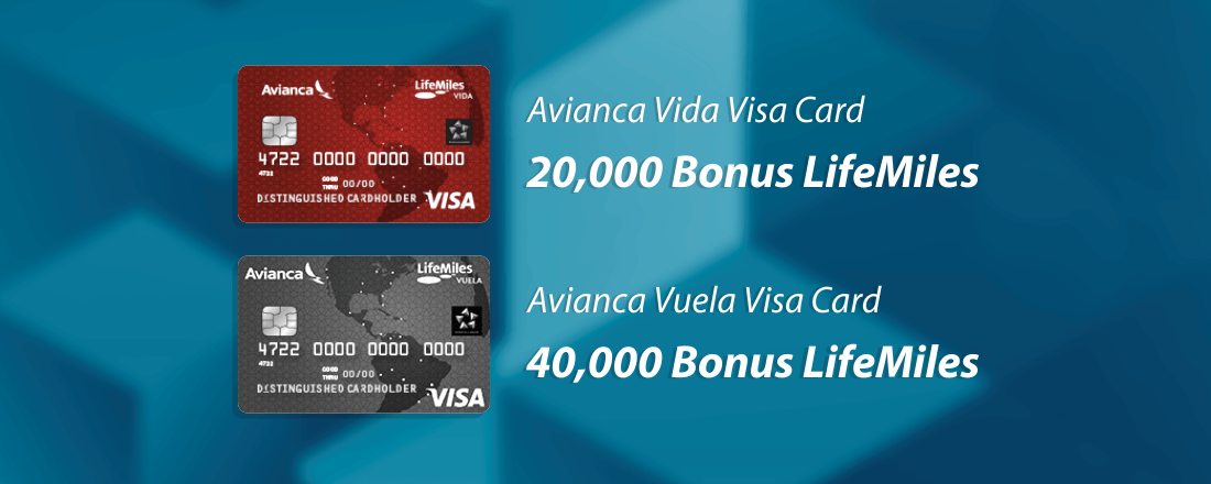 You can apply for either the basic Avianca Vida Visa or the premium Avianca Vuela Visa