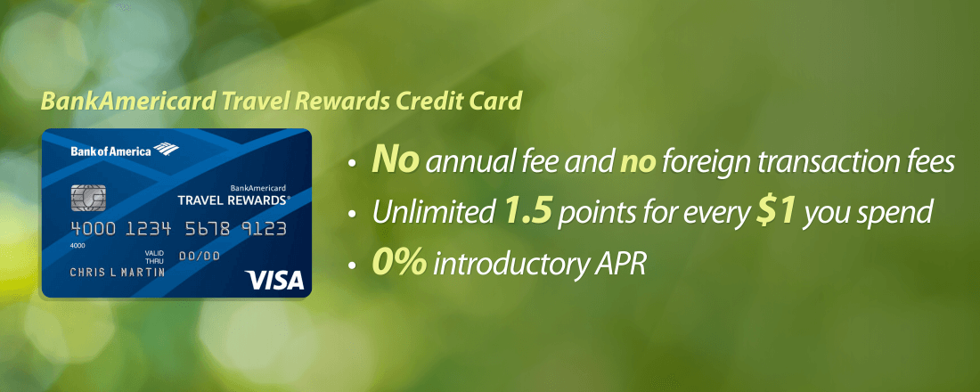 BankAmericard Travel Rewards Credit Card benefits