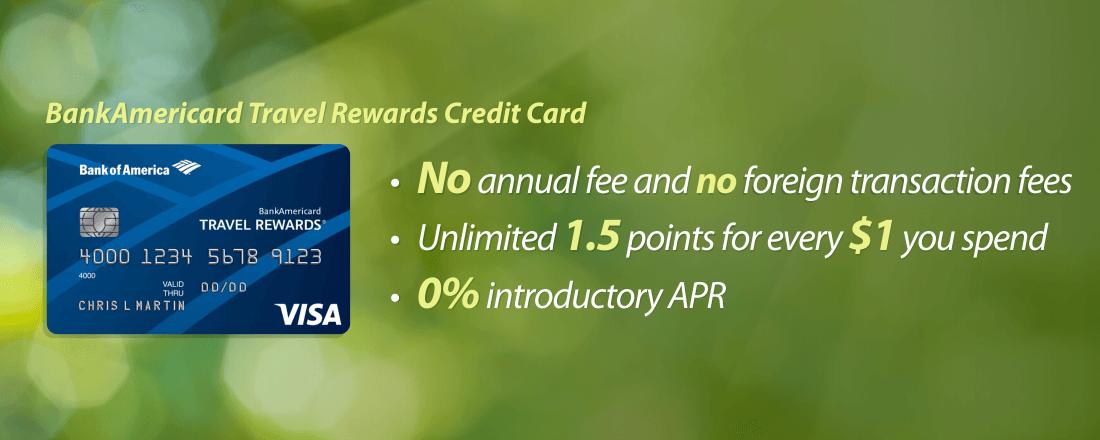 bankamericard travel rewards credit card benefits - Bank Of America Travel Rewards Card Benefits