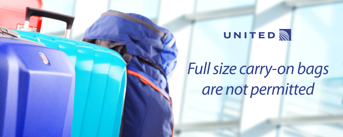 Passengers of United's Premium Economy are not permitted a full size carry-on bag