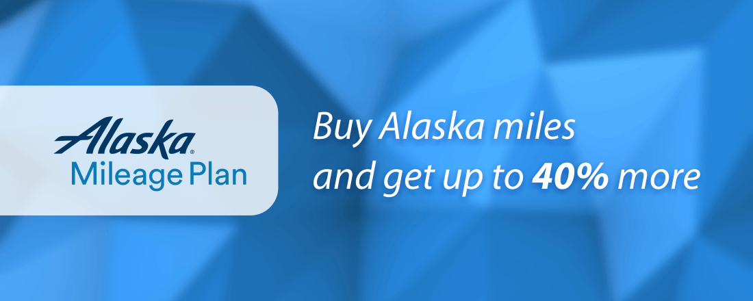 Buy Alaska miles and get up to 40% more