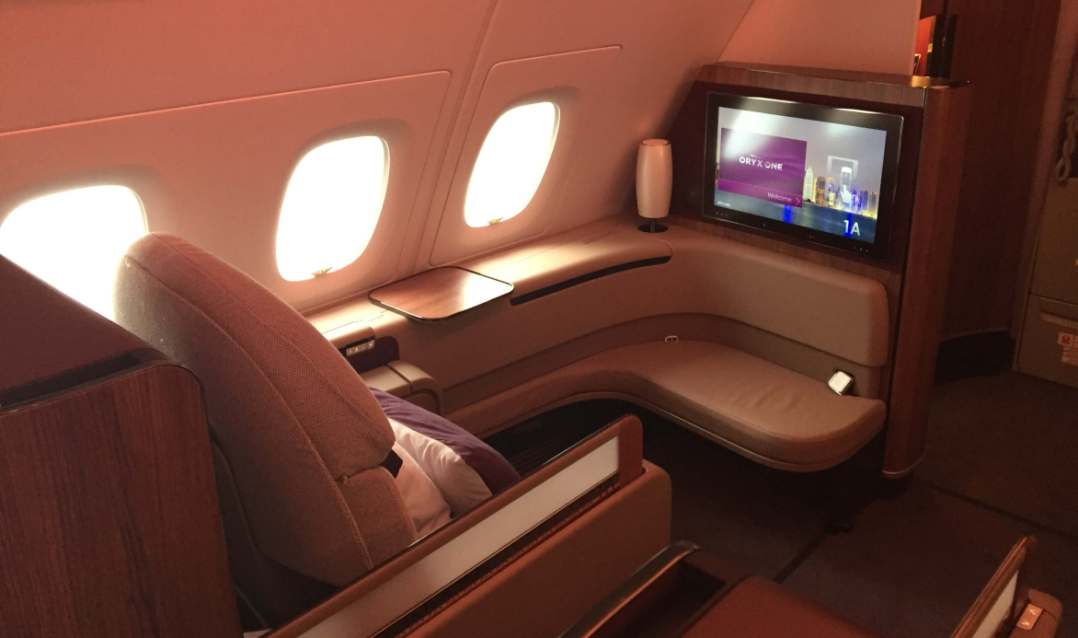 Qatar Airlines First Class seat
