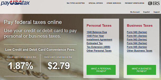 Paying taxes with a credit card often incurs high fees