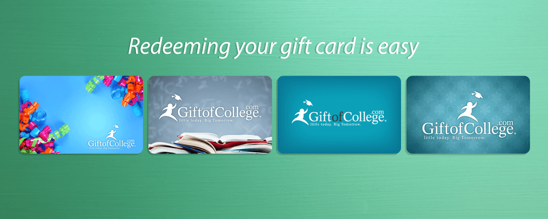 Redeeming your gift card is easy