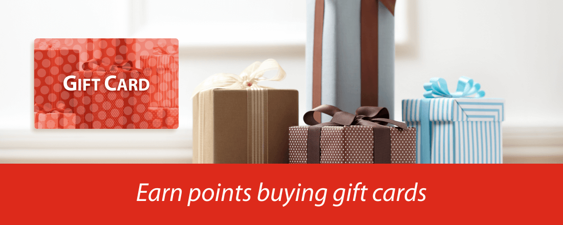 Earning points buying gift cards