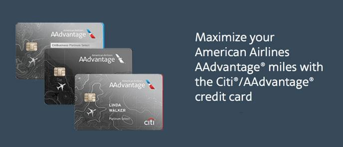 Use any of Aadvantage credit cards to shop at their portal