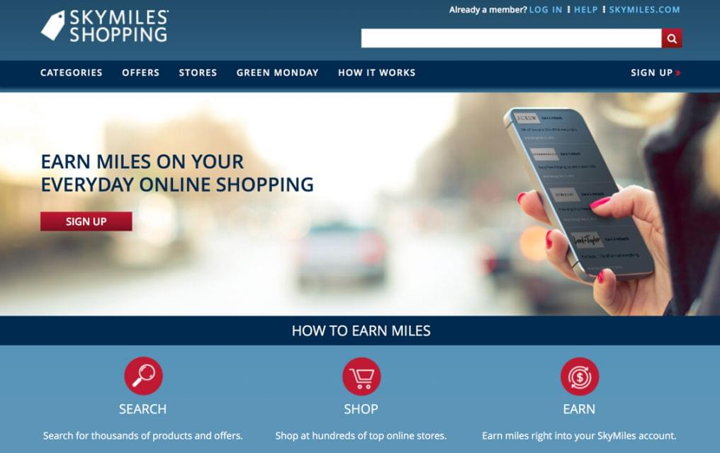 The Delta shopping portal is called SkyMiles Shopping