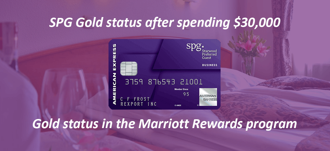 Travel benefits of Starwood Preferred Guest card from American Express