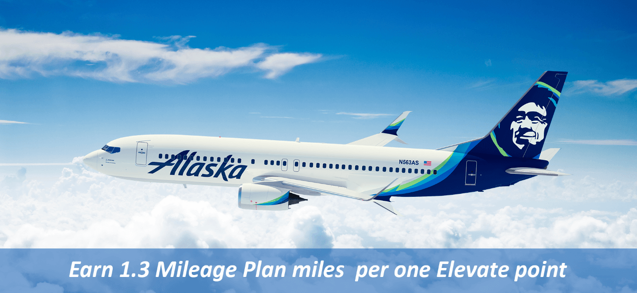 Earn 1.3 Mileage Plan miles per one Elevate point