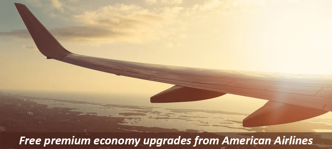 Free premium economy upgrades from American Airlines