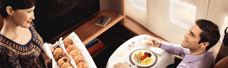 Book the Cook option in Singapore Airlines First Class