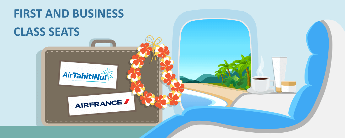 Comparing Air France and Air Tahiti Nui's Business Class Cabins