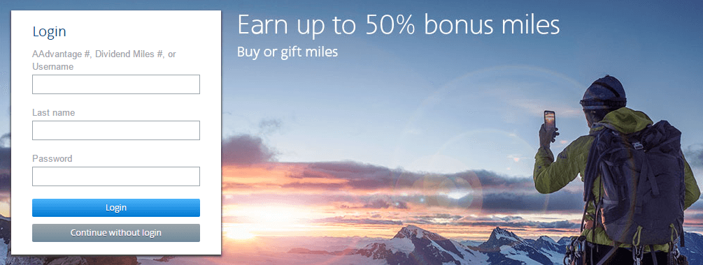 Earn up to 50% bonus AAdvantage miles