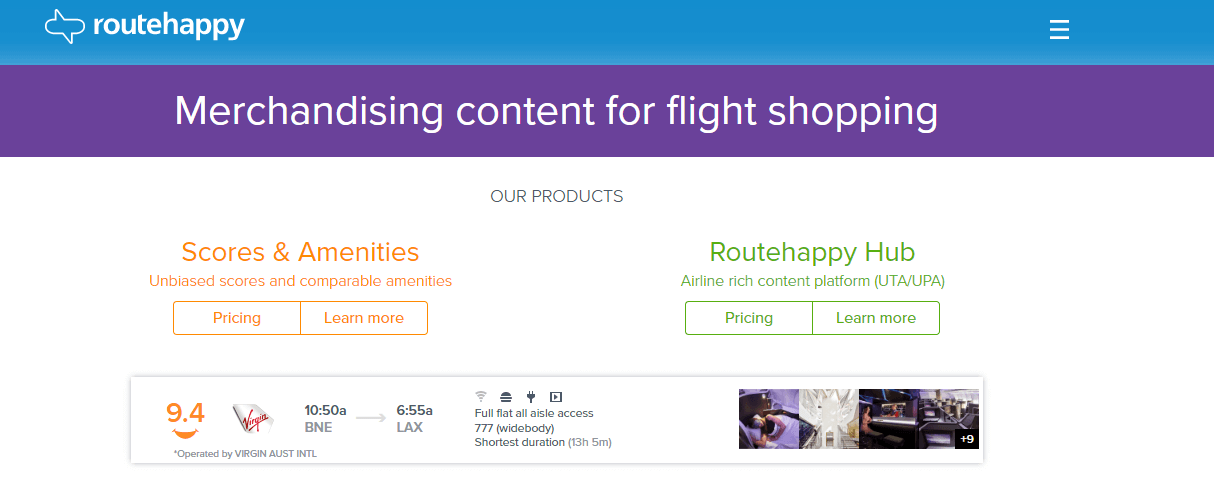 Routehappy's Website