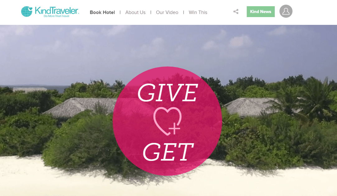Use Kind Traveler to make the world a little better while scoring an exclusive deal
