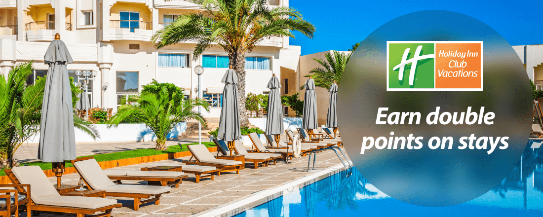 Earn double points on Holiday Inn Club vacations