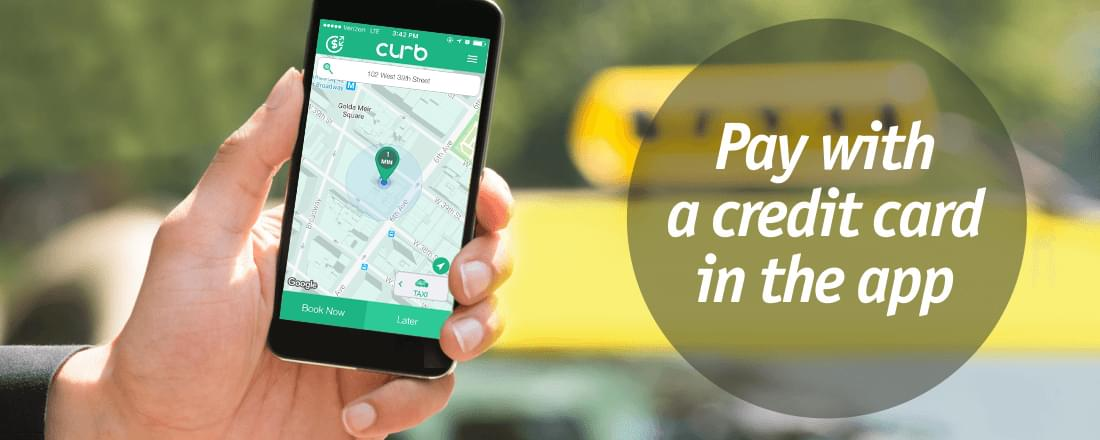 Pay with a credit card in Curb app