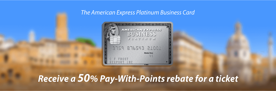 The Amex Platinum card gives you a 50% bonus when booking through their portal