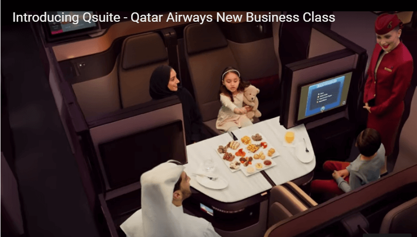 Qatar's New business class suite