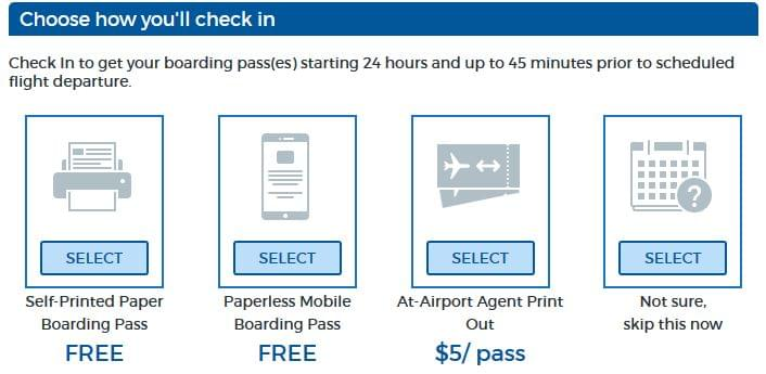 Allegiant boarding pass choice