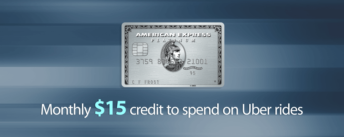 American Express Platinum adds new benefit - $15 credit on Uber rides