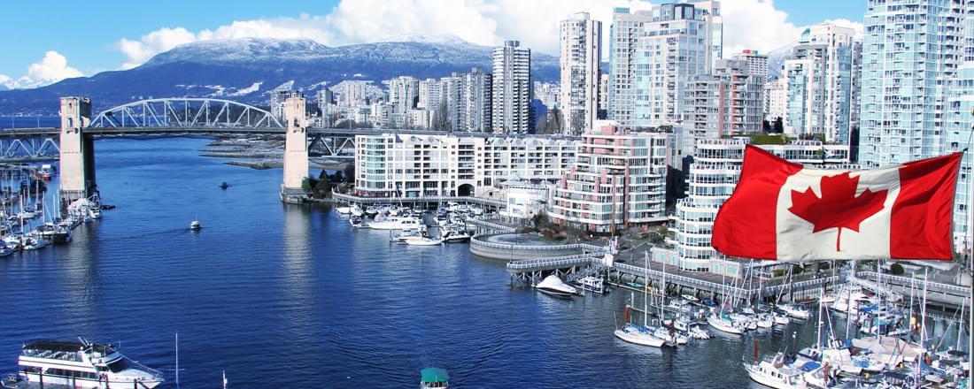 Burrard street bridge in Vancouver, Canada.