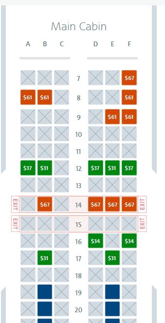 Main Cabin extra seats