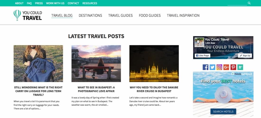 Travel Blog of YouCouldTravel
