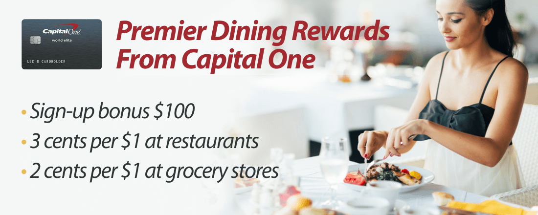 Earn cash back with Capital One's Premier Dining Rewards Card