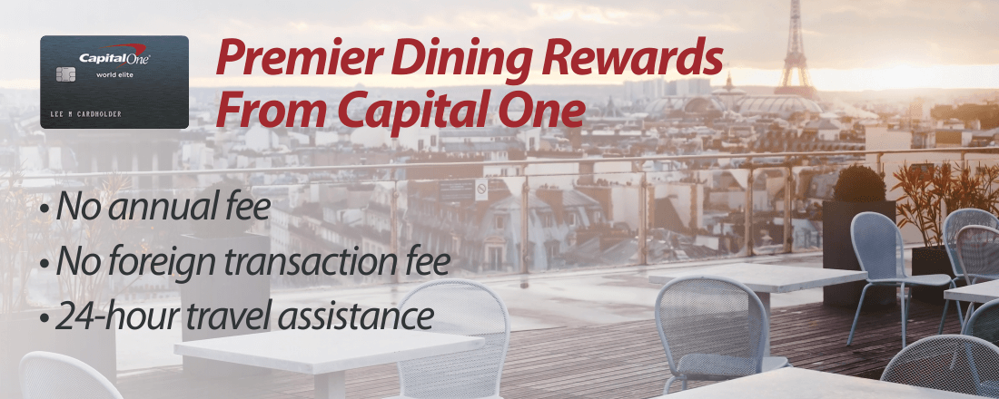 Benefits of Premier Dining Rewards Card From Capital One