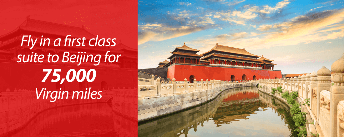 Fly in a first-class suite to Beijing for 75,000 Virgin miles