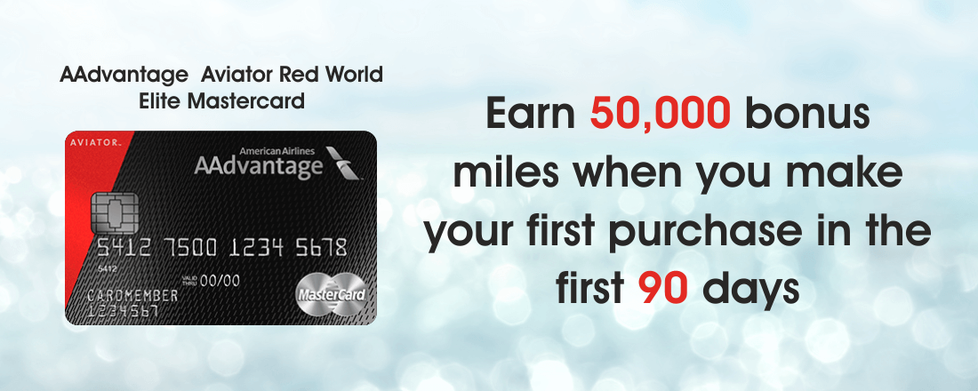 AAdvantage Aviator Red card 50,000 miles sign-up bonus
