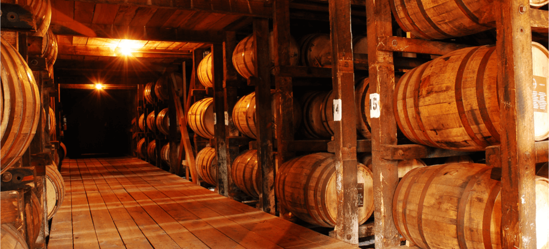 Bourbon barrels in Louisville
