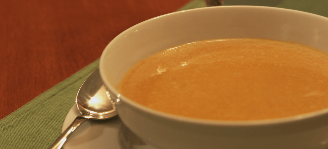 A bowl of butternut bisque