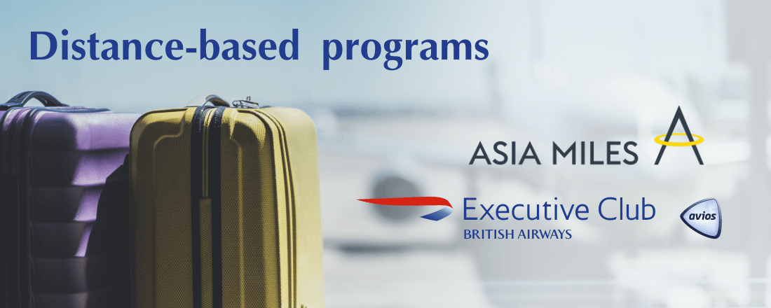 Distance-based programs: British Airways Avios, Cathay Pacific Asia Miles
