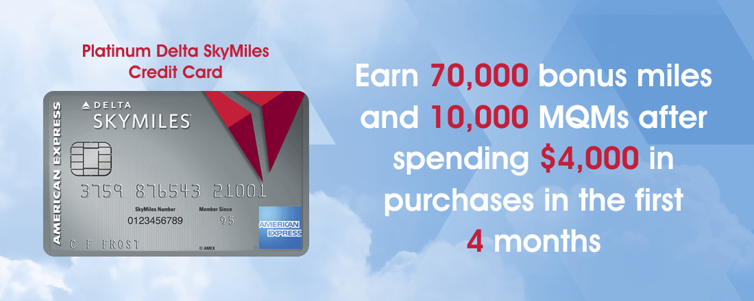 Platinum Delta SkyMiles card 70.000 miles sign-up bonus