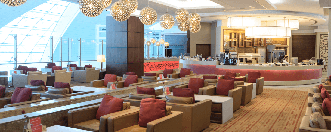 Premium Lounge in an Airport
