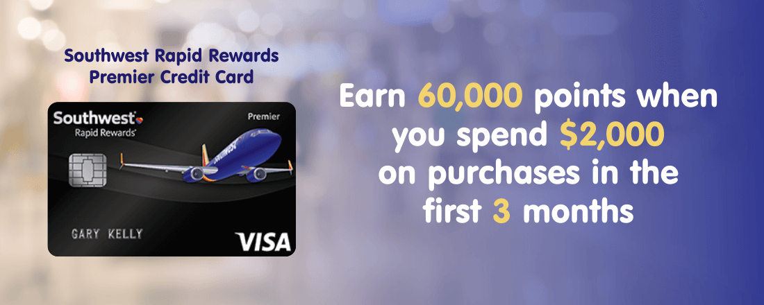 Southwest Rapid Rewards Premier credit card offers 60,000 points