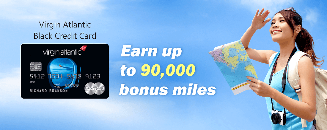 Earn up to 90,000 bonus miles with Virgin Atlantic Black Credit Card