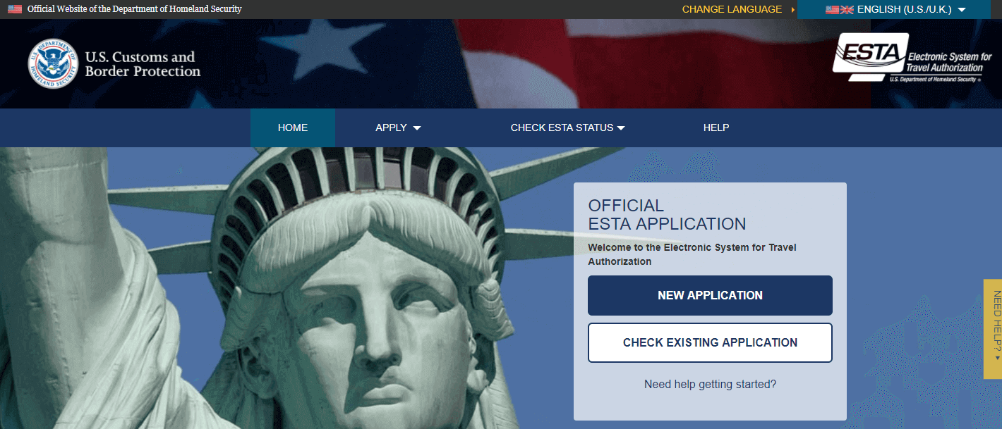 Easy application process for visa with ESTA