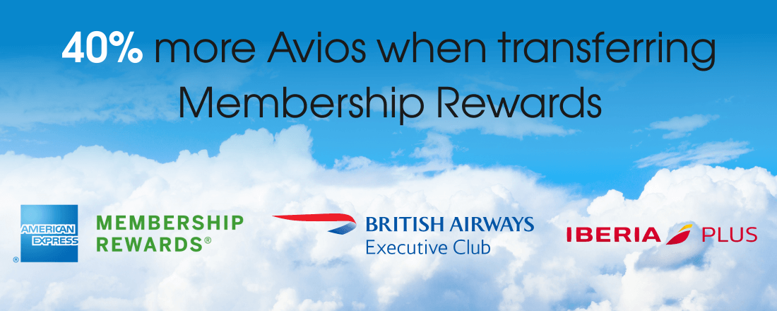 Receive 40% more Avios when transferring Membership Rewards