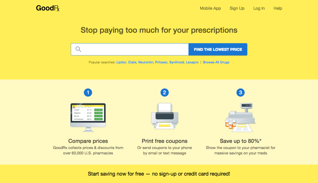 GoodRx helps Americans pay the lowest prices for prescription drugs