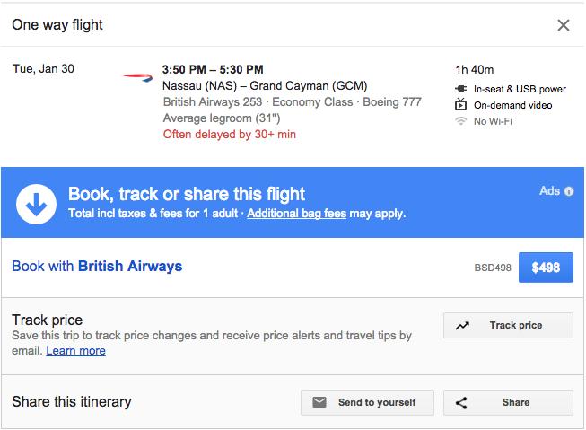 Book a flight between Nassau and Grand Cayman with Avios