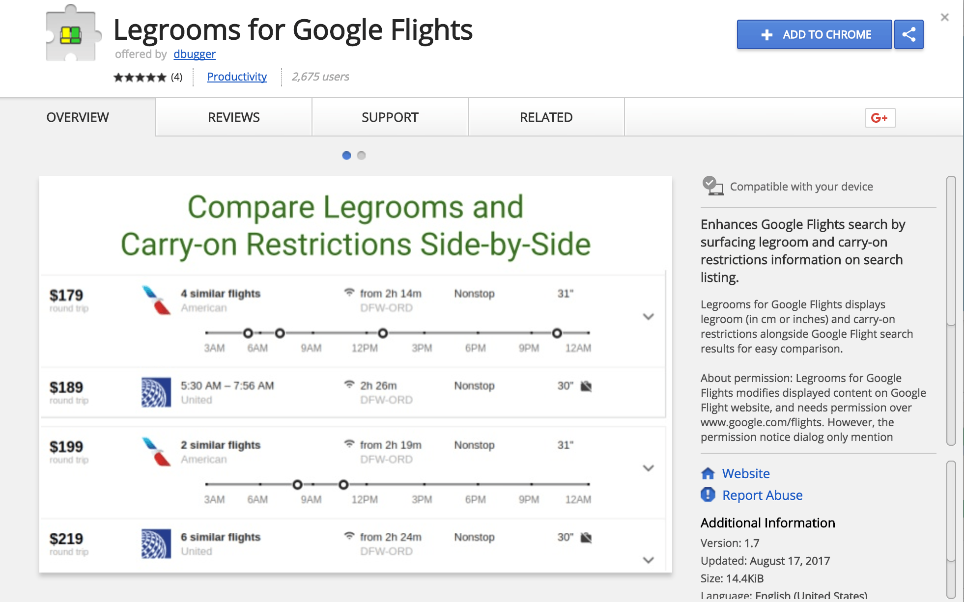 Google Chrome extension, Legrooms, allows you to compare seat pitch and allowances for carry on luggage