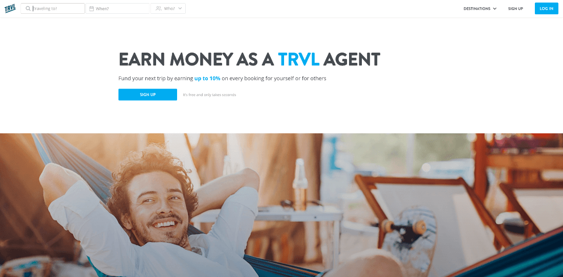 TRVL - travel booking platform