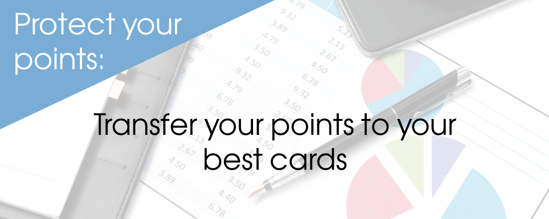 Transfer your points to your best cards