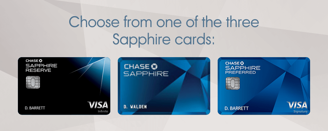 Three Chase Sapphire cards