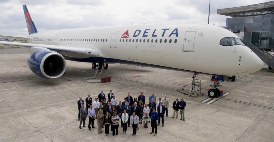 Delta Air Lines has taken delivery of its first Airbus A350
