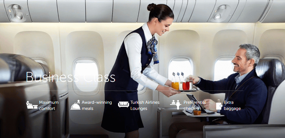Use Turkish Airlines miles to fly in business class