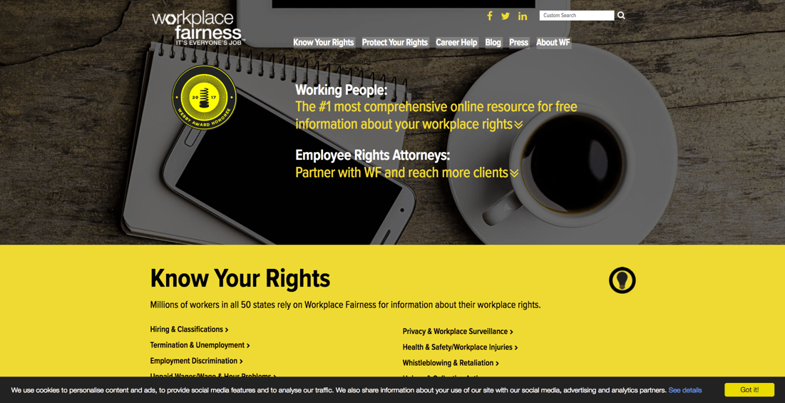 Workplace Fairness website
